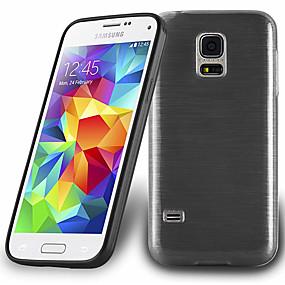 Недорогие Чехлы и кейсы для Galaxy S5 Mini-Кейс для Назначение SSamsung Galaxy S5 Mini / S5 Защита от удара / Защита от пыли Кейс на заднюю панель Однотонный Мягкий ТПУ