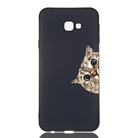 voordelige Galaxy J3 Hoesjes / covers-hoesje Voor Samsung Galaxy J7 (2017) / J6 (2018) / J5 (2017) Schokbestendig / Mat / Patroon Achterkant Kat TPU