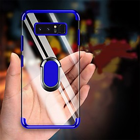voordelige Galaxy S7 Hoesjes / covers-plating zachte tpu transparante anti-shock case voor samsung galaxy s10 plus s10 s10 5 g s10 e s9 plus s9 s8 plus s8 s7 rand s7 case vinger ring cover