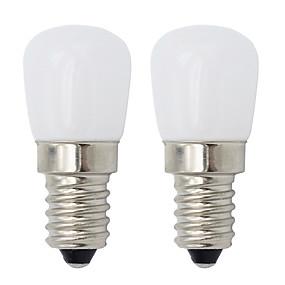 ieftine Becuri LED Glob-2pcs e14 șurub condus bec mini dimming condus frigider lumina 2w lumina de noapte lumina led bec hood