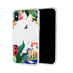 olcso iPhone tokok-tok iPhone xs max x xr 8 plusz hátsó tok puha kézzel festett virág átlátszó mobiltelefon tok vízálló anti-fall és karcolás puha tm iphone 7 plusz 7 6 plus 6 5 se 5s 5 8