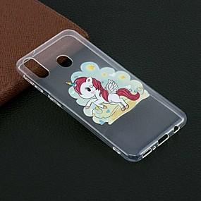 cheap Samsung Accessories-Case For Samsung Galaxy M20(2019) / Galaxy M30(2019) Pattern Back Cover Unicorn Soft TPU for Galaxy M10(2019)