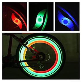 olcso Zseblámpák-LED Kerékpár világítás biztonsági világítás kerék fények Bike Spoke Fény Hegyi biciklizés Kerékpározás Vízálló Többféle üzemmód Riasztás - Ébresztős CR2032 akkumulátor Kerékpározás motocycle / IPX-4