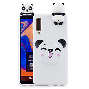 cheap Samsung Accessories-Case For Samsung Galaxy A7(2018) Shockproof / Dustproof / Pattern Back Cover Dog / 3D Cartoon / Panda Soft TPU for Galaxy A7(2018)
