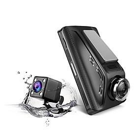 voordelige Auto DVR's-v350 1296p draadloze auto dvr groothoek 3,5 inch amoled dash cam met parkeerbewaking autorecorder