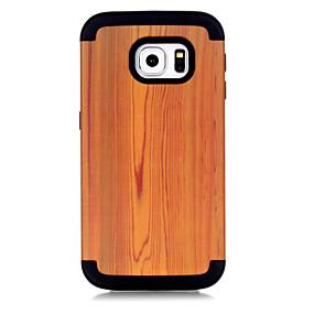 voordelige Galaxy S7 Edge Hoesjes / covers-hoesje Voor Samsung Galaxy S7 edge Schokbestendig Achterkant Houtnerf / Geometrisch patroon / Kleurgradatie TPU / PC