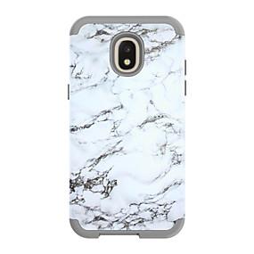 voordelige Galaxy J3 Hoesjes / covers-hoesje Voor Samsung Galaxy J3 (2018) / J3 / Galaxy J3 Pro (2017) Schokbestendig Achterkant Lijnen / golven / Marmer PC