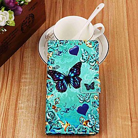 cheap Daily Deals-Case For Samsung Galaxy S9 / S9 Plus / S8 Plus Wallet / Card Holder / with Stand Full Body Cases Butterfly PU Leather