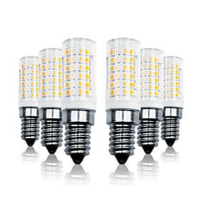 ieftine Becuri LED Corn-LOENDE 6pcs 7 W Becuri LED Corn 800 lm E14 T 78 LED-uri de margele SMD 2835 Intensitate Luminoasă Reglabilă Alb Cald Alb 110-130 V 200-240 V