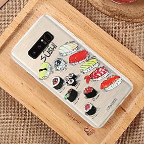 voordelige Galaxy S7 Edge Hoesjes / covers-hoesje Voor Samsung Galaxy S8 Plus / S8 / S7 edge Waterbestendig / Stofbestendig / Doorzichtig Achterkant Voedsel TPU
