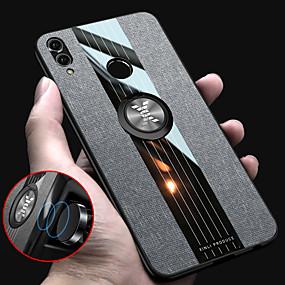 voordelige Huawei Honor hoesjes / covers-stof magnetische ringhouder zachte frame doek case voor huawei eer 8x eer 10 lite eer 10 eer 7x eer 7c eer 6x siliconen TPU rand