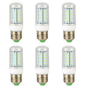 ieftine Becuri LED Corn-6pcs 7 W Becuri LED Corn 300 lm E14 G9 GU10 T 56 LED-uri de margele SMD 4014 Model nou Alb Cald Alb 220-240 V 110-130 V