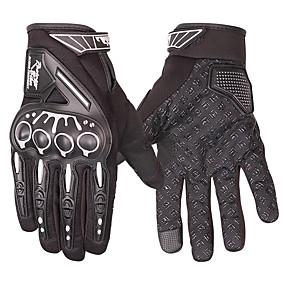 Недорогие Мотоциклетные перчатки-перчатки для езды на мотоцикле защитные перчатки с сенсорным экраном для пальцев / спортивные перчатки для активного отдыха - черные