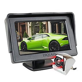 voordelige Auto-elektronica-ziqiao 4,3 inch tft lcd-scherm auto monitor extra parkeren ir licht nachtzicht achteruitrijcamera