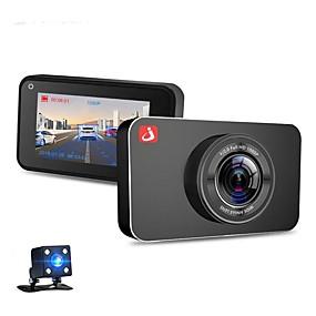 voordelige Auto DVR's-Junsun h9 1080p hd auto dvr 170 graden groothoek 3 inch ips dual lens dash cam met nachtzicht / g-sensor / parkeerbewaking / bewegingsdetectie / g-sensor / lusopname / 4 infrarood leds