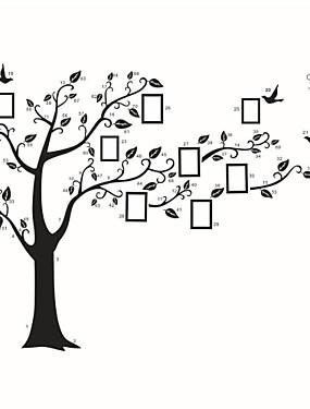 hesapli Ev Büyük Promosyon-Botanik Karton Duvar Etiketler Uçak Duvar Çıkartmaları Fotoğraf Çıkartmalar, Vinil Ev dekorasyonu Duvar Çıkartması Duvar