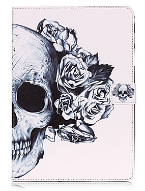 cheap Samsung Tab Series Cases / Covers-Case For Samsung Tab A 10.1 (2016) Wallet / with Stand / Flip Full Body Cases Skull Hard PU Leather for Tab A 10.1 (2016)