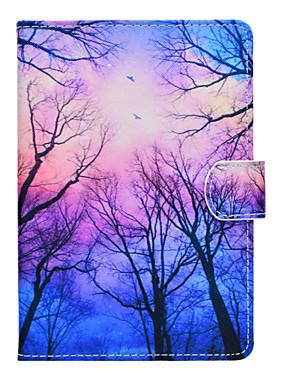 رخيصةأون اكسسوارات تابليت-غطاء من أجل Amazon Kindle Fire hd 8(7th Generation, 2017 Release) / Kindle Fire hd 8(6th Generation, 2016 Release) حامل البطاقات / ضد الصدمات / مع حامل غطاء كامل للجسم شجرة قاسي جلد PU إلى Kindle