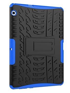 ieftine Carcase Mobil-Maska Pentru Huawei MediaPad T3 10(AGS-W09, AGS-L09, AGS-L03) Anti Șoc / Cu Stand / armură Capac Spate Țiglă / armură Greu PC pentru Huawei MediaPad T3 10(AGS-W09, AGS-L09, AGS-L03)
