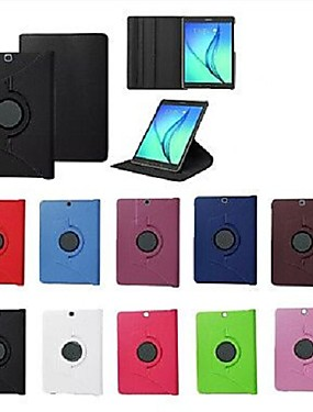 cheap Samsung Tab Series Cases / Covers-Case For Samsung Galaxy / Tab S2 8.0 / Tab S2 9.7 with Stand / Flip / 360° Rotation Full Body Cases Solid Colored Hard PU Leather for