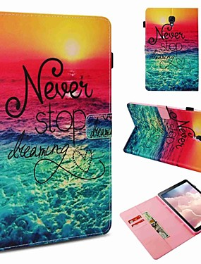 cheap Samsung Tab Series Cases / Covers-Case For Samsung Galaxy Tab S4 10.5 (2018) / Tab A 10.1 (2016) Card Holder / Shockproof / Pattern Full Body Cases Word / Phrase Hard PU Leather for Tab S4 10.5 (2018) / Tab S2 9.7 / Tab A 9.7