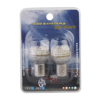 1157 18-LED White Light Bulb for Car Turning Signal and Brake Lights (2-Pack, 12V)