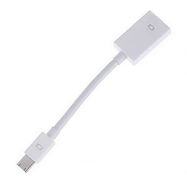 Mini DisplayPort DP Dişi Uçlu ve HDMI V1.4 Dişi Uçlu Kablo Beyaz (15CM)
