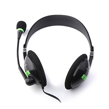 Yoro stereokuulokkeet mikrofoni kuulokkeet (musta)