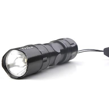 3W LED politi aa lommelygte med strop nøglering sort
