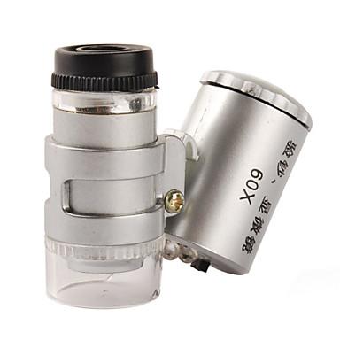 Mini 60X Microscope with 2-LED Illumination + Currency Detecting UV Light (3*LR1130)