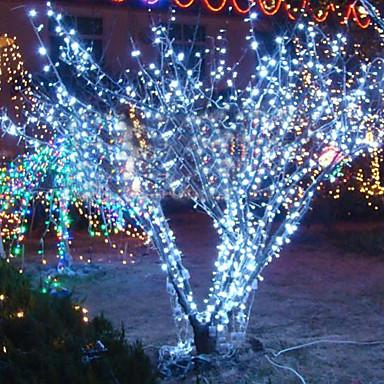 10m 6w 100-led wit licht snaarlamp voor halloween festival decoratie (110 / 220v)