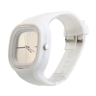 Montre Tendance, Simple, Bracelet en Silicone, Unisexe - Argentée