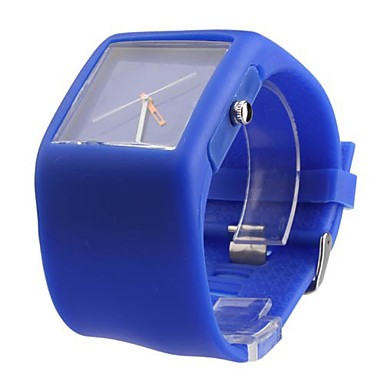 Silicone Band Fashion Women Men Unisex Casual Jelly Sport Watch - Blue