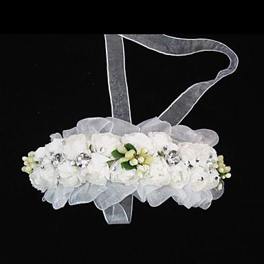 Tül Kristal Kumaş Kağıt - Tiaras Headbands 1 Düğün Özel Anlar Parti / Gece Günlük Başlık