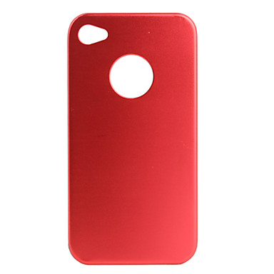Aluminium Protective Case / Hole on Back for iPhone 4 - Red