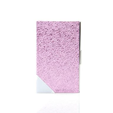 elegante Metall-Visitenkarten-Etui aus Leder purface-rose red