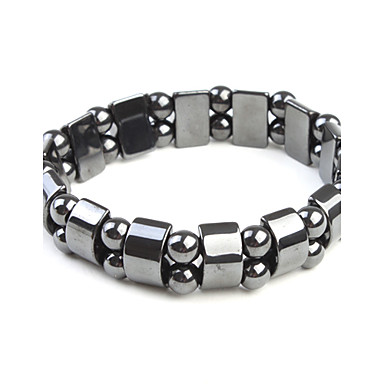Magnetic Bracelet with Rectangle and Round Beads, for Girls