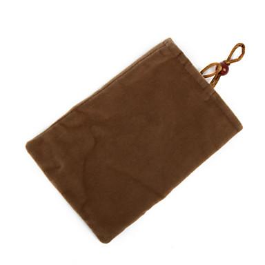 Trendy Cell Phone Vertical Velvet Bag Brown (4.3 inch Wide)