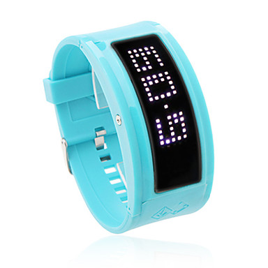 10 Letters Display Silicone Band LED Wrist Watch(Blue) Cool Watch Unique Watch