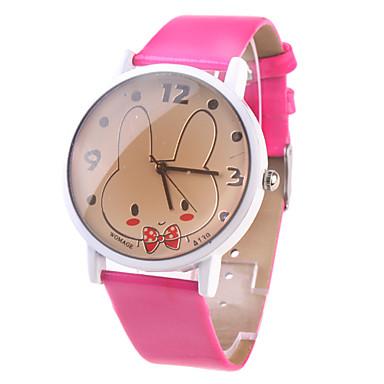 roztomilý králík hodinky s růžovým červeným pásek na hodinky A139