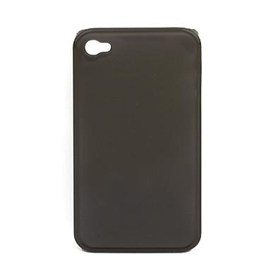 transparent glasur noctilucent hårdt tilfældet for iPhone 4 (sort)