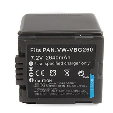 2640mAh 7.2V Camera Battery VBG260 for PANASONIC HS9 and More