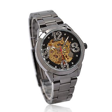 Unisex New Fashion Stainless Steel Mechanical Wrist Watch