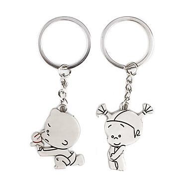 enfant mignon kirksite couple porte-clés (la paire)