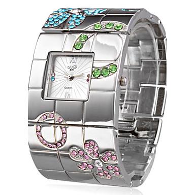Kadın's Quartz Bilek Saati Japonca Gündelik Saatler Paslanmaz Çelik Bant Lüks / Çiçek / Bohem / Zarif / Moda / Halhal Gümüş
