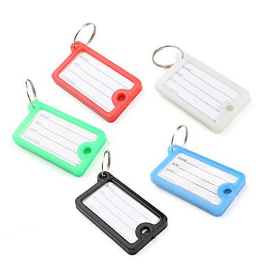 Mini dikdörtgen seyahat bavul id bagaj etiketi (5 adet)