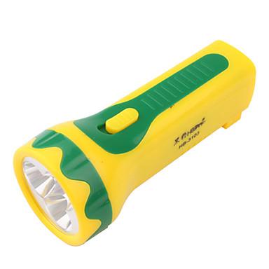 Super Bright HBT-3103 1-Mode 3-LED Flashlight (AC Charger, Yellow)
