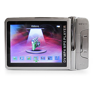 2.4 Inch Metal Casing MP4 Player with 1.3 MP Camera (4GB, Silver)