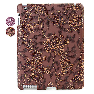 Classic Flower Pattern Protection Back Case for iPad 2
