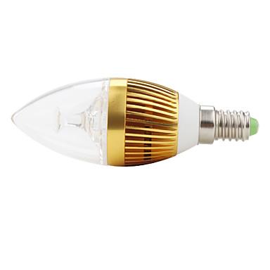 Lâmpada Vela Decorativa E14 3 W 270 LM K Branco Natural 3 LED de Alta Potência AC 85-265 V C35
